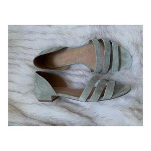 Madewell Lelia Sandals sage green 9.5